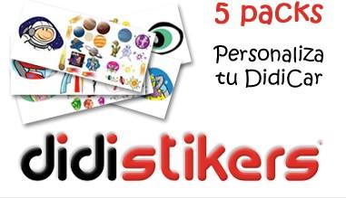 Kits de pegatinas Didistickers Originales para Didicar